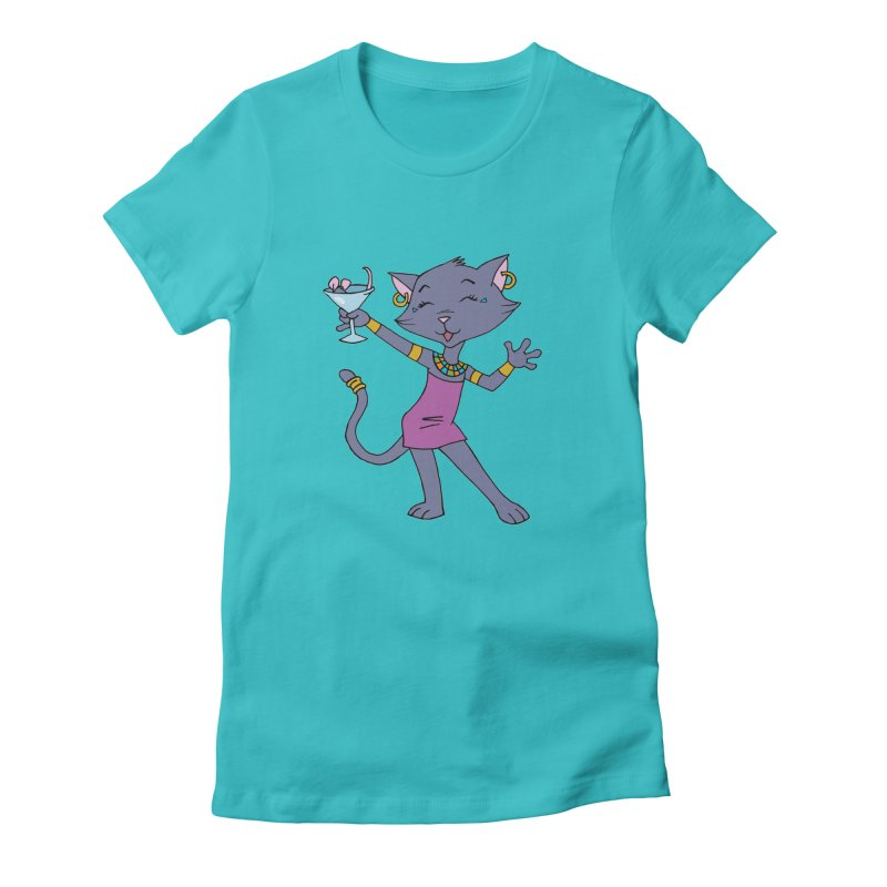 Lil' Bastet Women's Fitted T-Shirt by Natou's Artist Shop