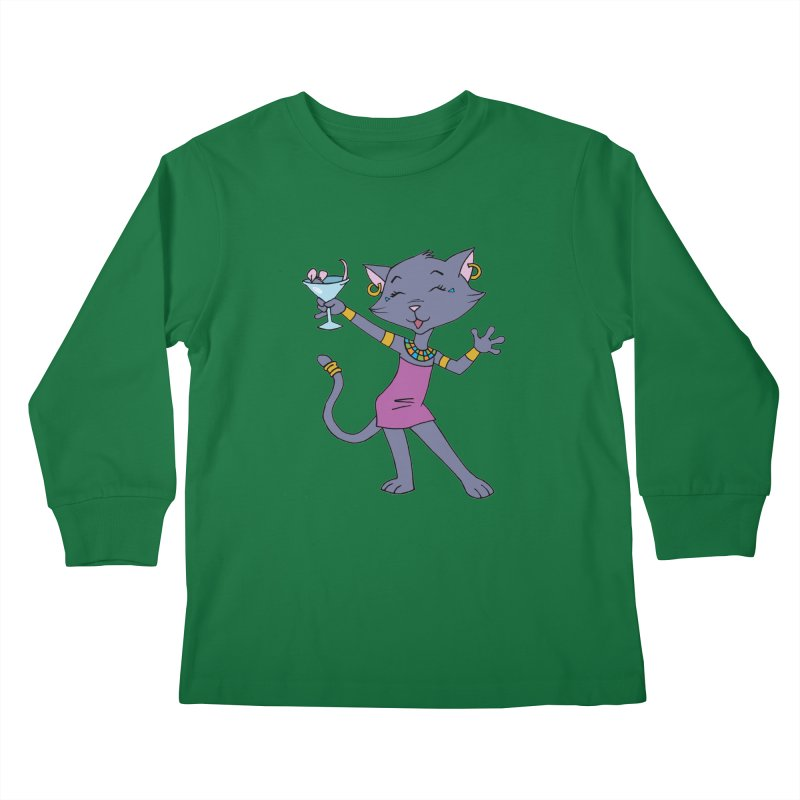 Lil' Bastet Kids Longsleeve T-Shirt by Natou's Artist Shop