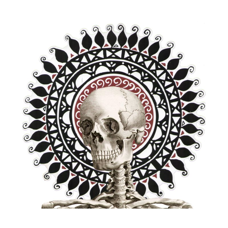 Saint Skeleton Accessories Beach Towel by Natou's Artist Shop