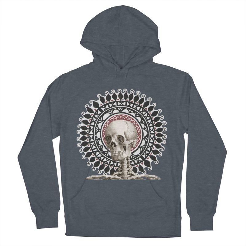 Saint Skeleton Men's French Terry Pullover Hoody by Natou's Artist Shop