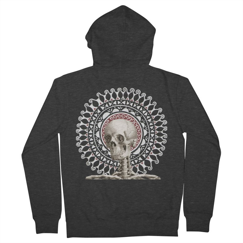 Saint Skeleton Women's French Terry Zip-Up Hoody by Natou's Artist Shop