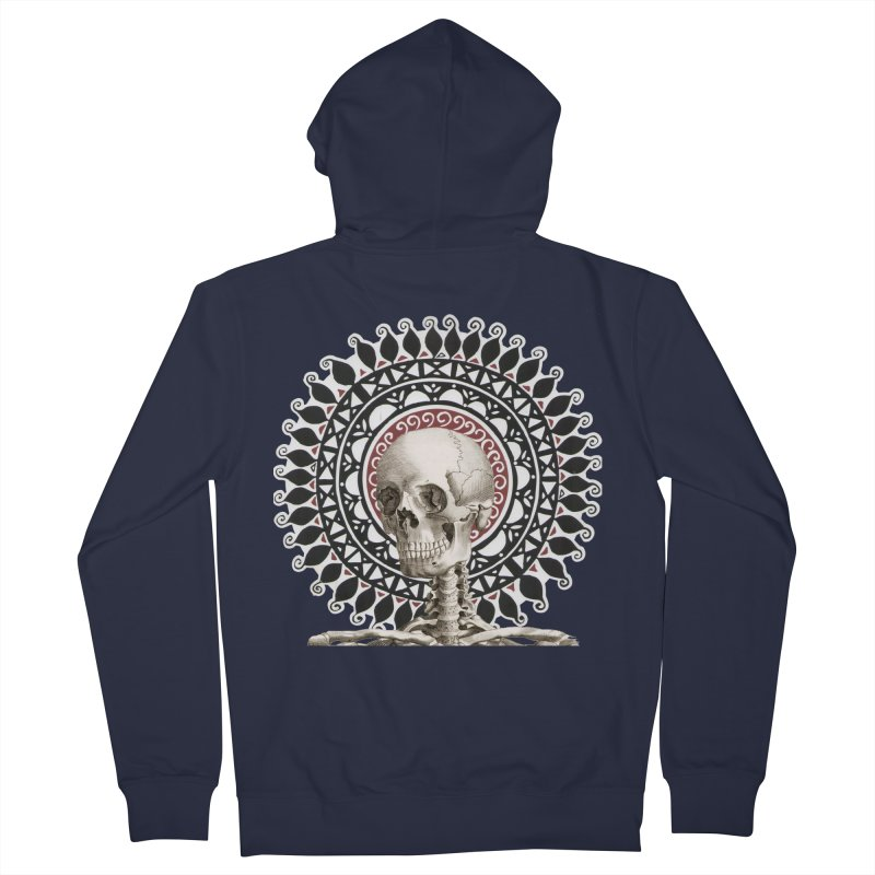 Saint Skeleton Men's French Terry Zip-Up Hoody by Natou's Artist Shop