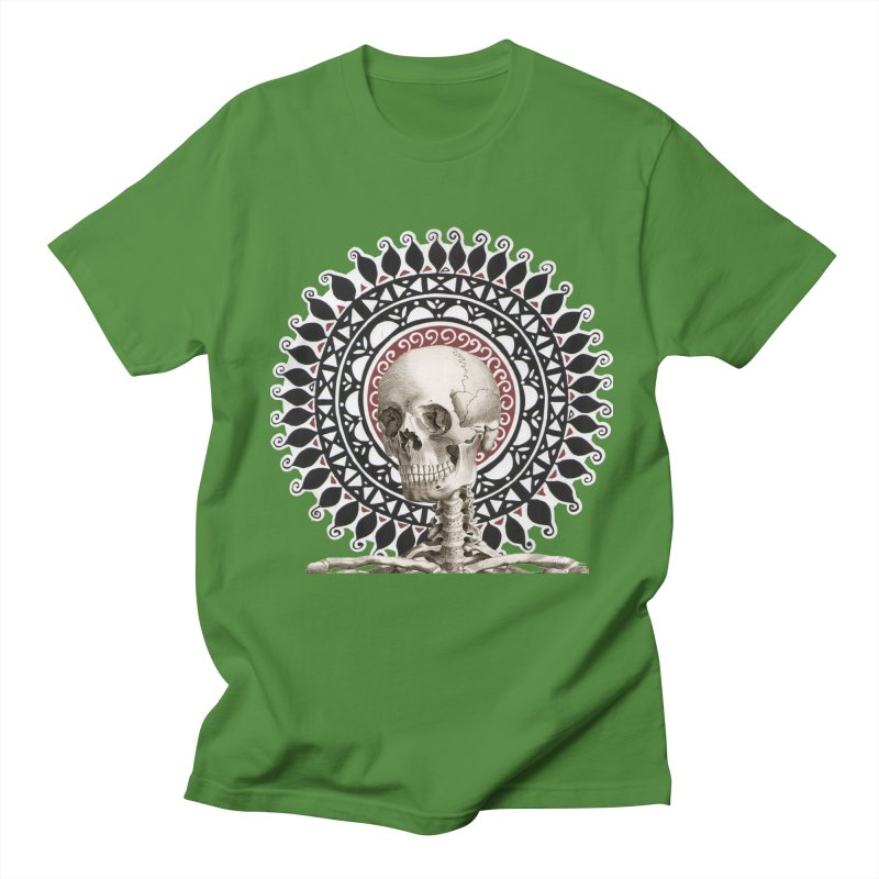 Saint Skeleton Men's Regular T-Shirt by Natou's Artist Shop