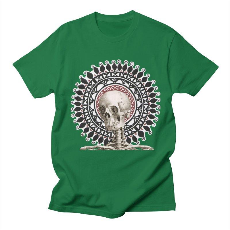 Saint Skeleton Men's Regular T-Shirt by Natou's Artist Shop