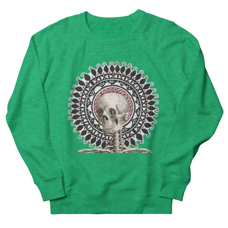 Saint Skeleton Men's French Terry Sweatshirt by Natou's Artist Shop