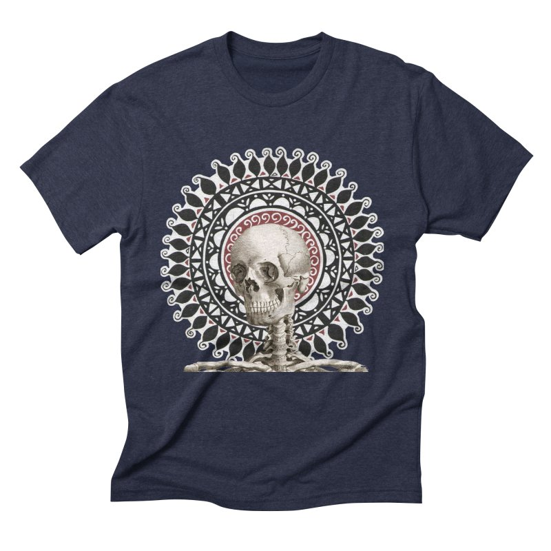 Saint Skeleton Men's Triblend T-Shirt by Natou's Artist Shop