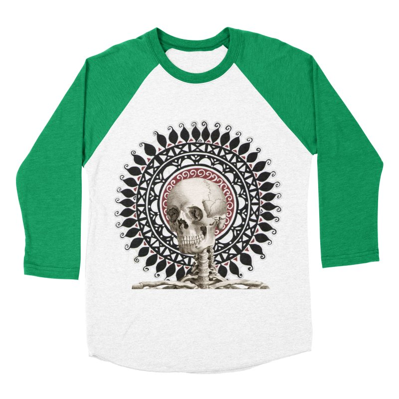 Saint Skeleton Men's Baseball Triblend T-Shirt by Natou's Artist Shop