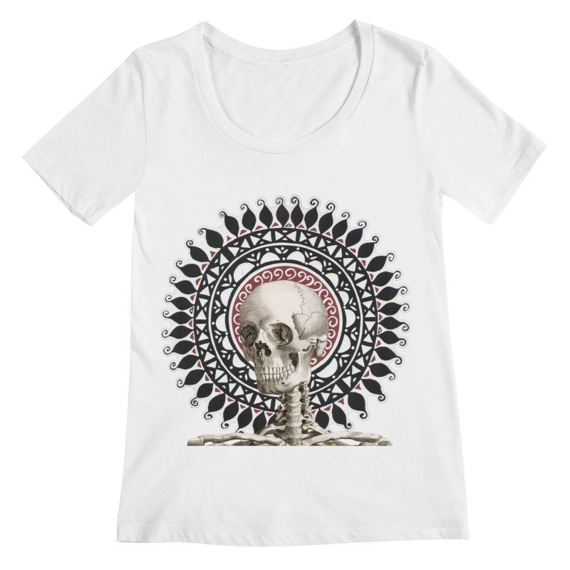 Saint Skeleton Women's Scoopneck by Natou's Artist Shop