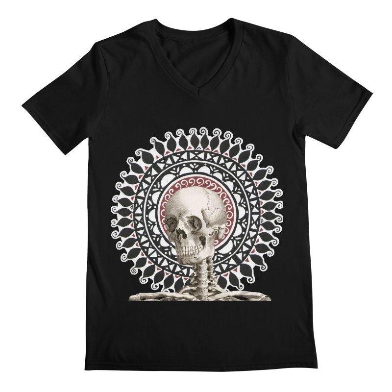 Saint Skeleton Men's V-Neck by Natou's Artist Shop