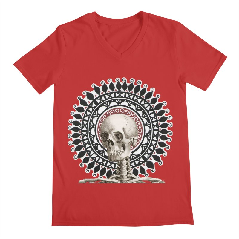 Saint Skeleton Men's Regular V-Neck by Natou's Artist Shop