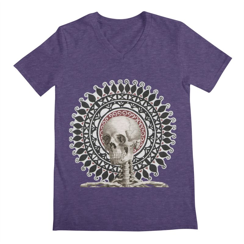 Saint Skeleton Men's V-Neck by Natou's Artist Shop
