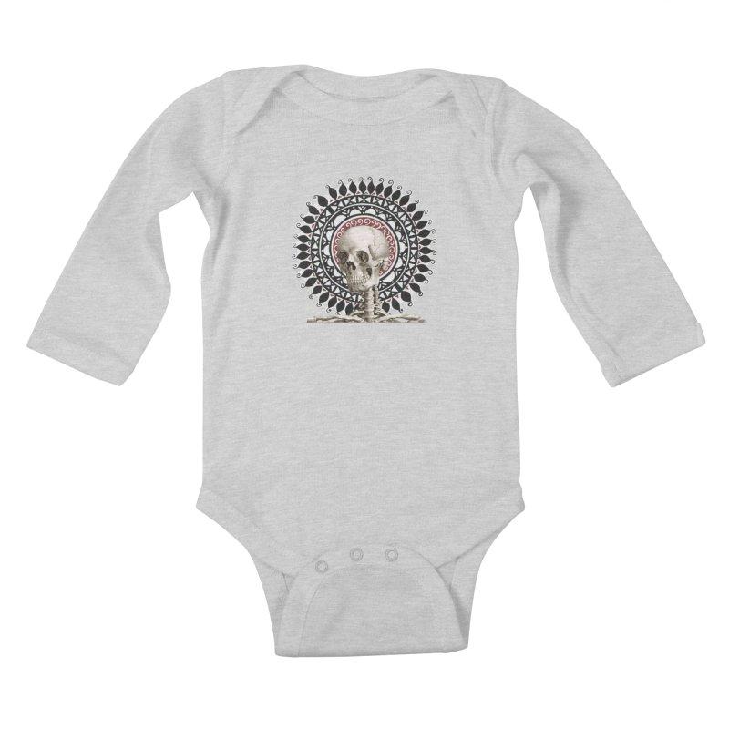 Saint Skeleton Kids Baby Longsleeve Bodysuit by Natou's Artist Shop