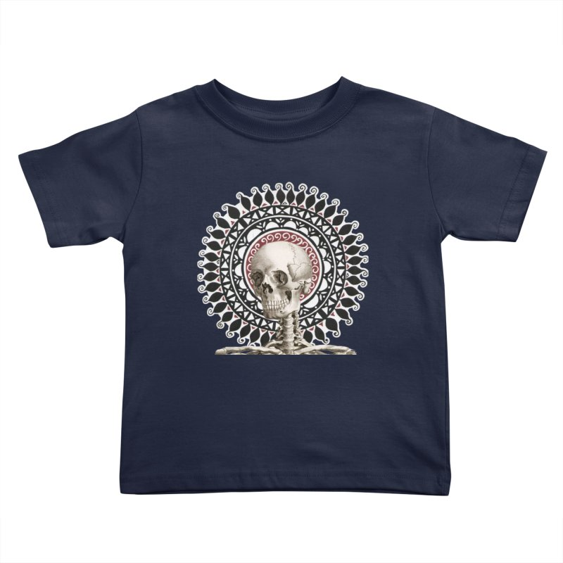 Saint Skeleton Kids Toddler T-Shirt by Natou's Artist Shop