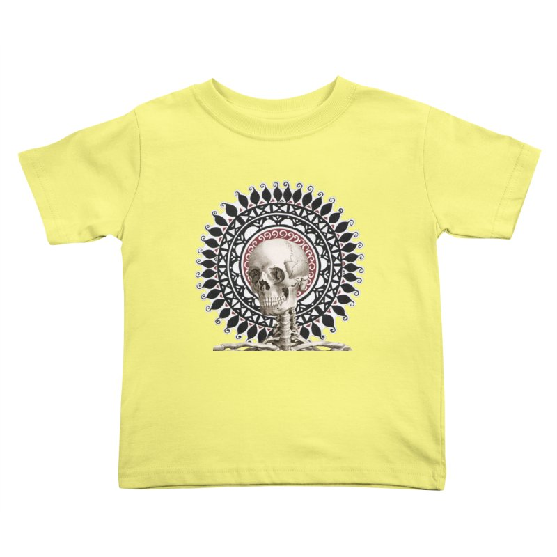 Saint Skeleton Kids Toddler T-Shirt by Natou's Artist Shop