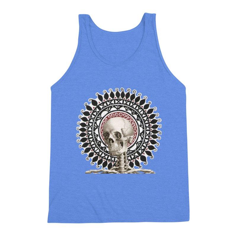 Saint Skeleton Men's Triblend Tank by Natou's Artist Shop