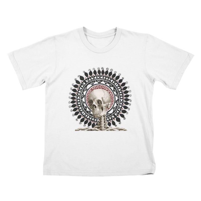 Saint Skeleton Kids T-Shirt by Natou's Artist Shop