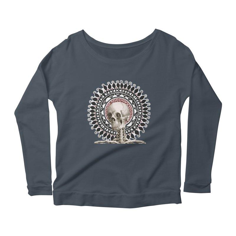 Saint Skeleton Women's Scoop Neck Longsleeve T-Shirt by Natou's Artist Shop