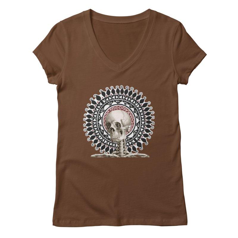 Saint Skeleton Women's V-Neck by Natou's Artist Shop