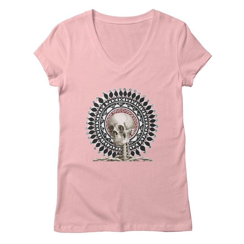 Saint Skeleton Women's Regular V-Neck by Natou's Artist Shop