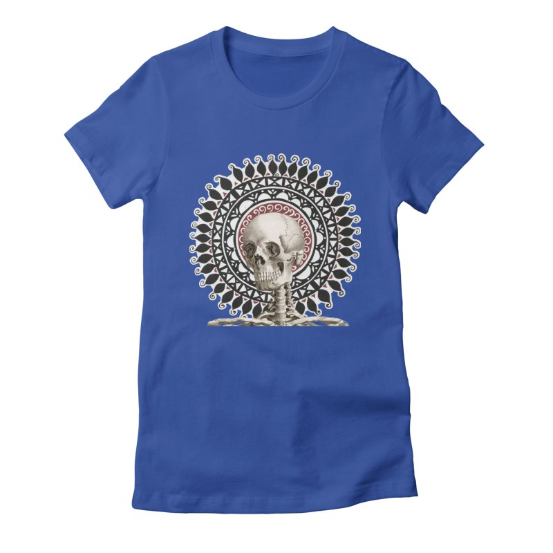 Saint Skeleton Women's Fitted T-Shirt by Natou's Artist Shop