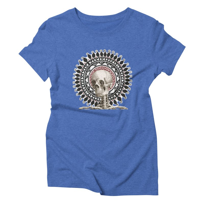 Saint Skeleton Women's Triblend T-Shirt by Natou's Artist Shop