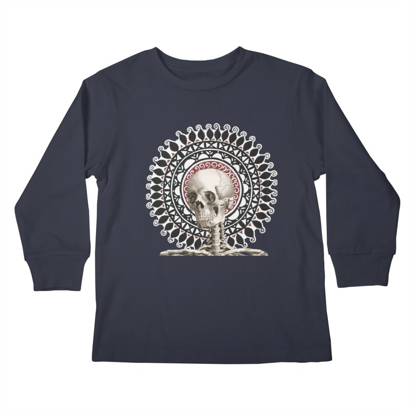 Saint Skeleton Kids Longsleeve T-Shirt by Natou's Artist Shop