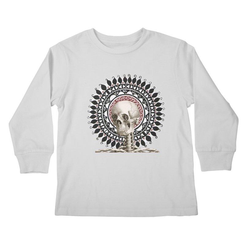 Saint Skeleton Kids Longsleeve T-Shirt by Natou's Artist Shop
