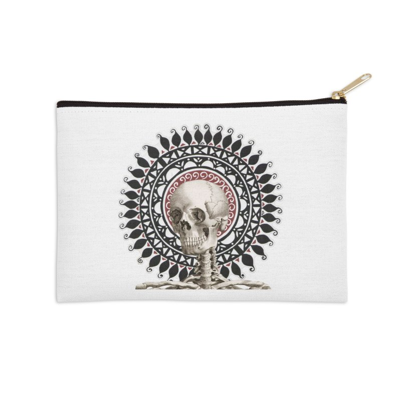 Saint Skeleton Accessories Zip Pouch by Natou's Artist Shop