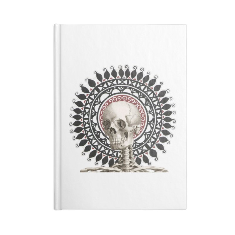 Saint Skeleton Accessories Lined Journal Notebook by Natou's Artist Shop