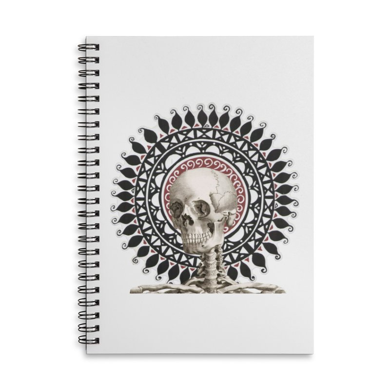 Saint Skeleton Accessories Lined Spiral Notebook by Natou's Artist Shop