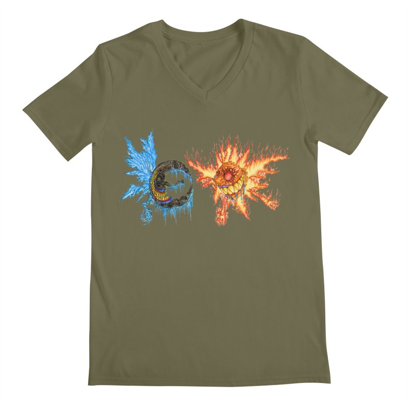 Luna and Sol Men's Regular V-Neck by Natou's Artist Shop