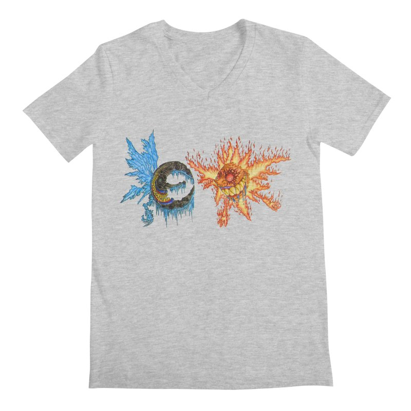 Luna and Sol Men's V-Neck by Natou's Artist Shop