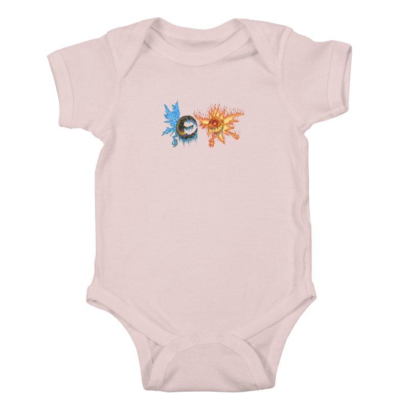 Luna and Sol Kids Baby Bodysuit by Natou's Artist Shop