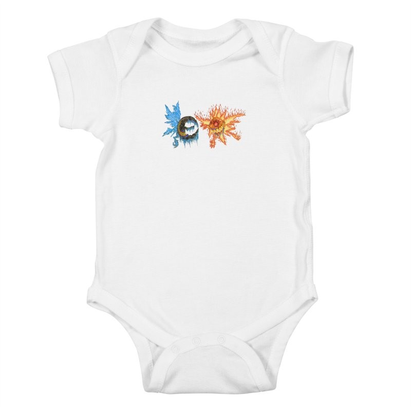 Luna and Sol Kids Baby Bodysuit by Natou's Artist Shop