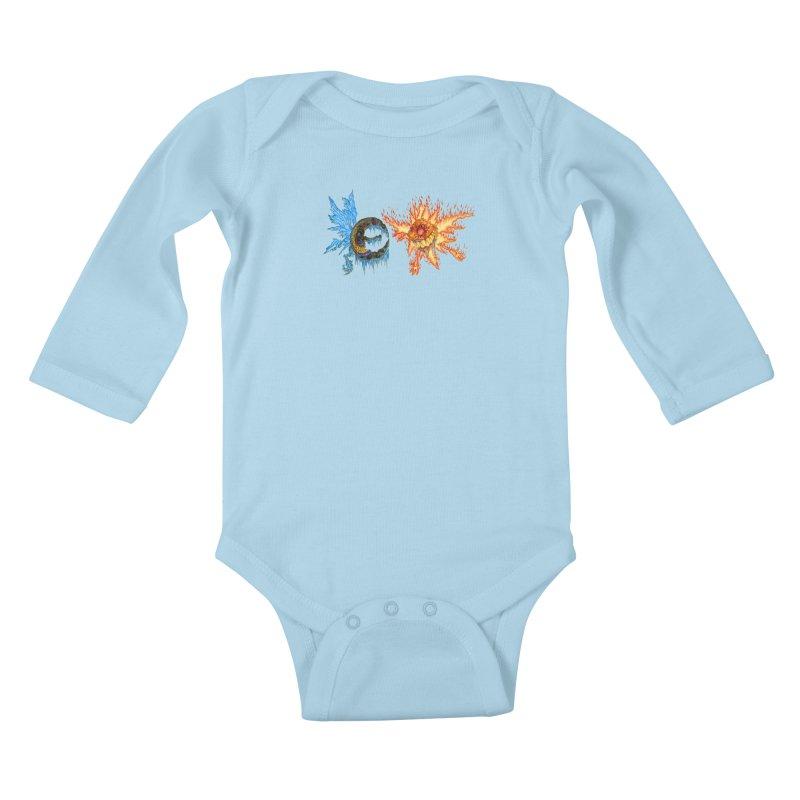 Luna and Sol Kids Baby Longsleeve Bodysuit by Natou's Artist Shop
