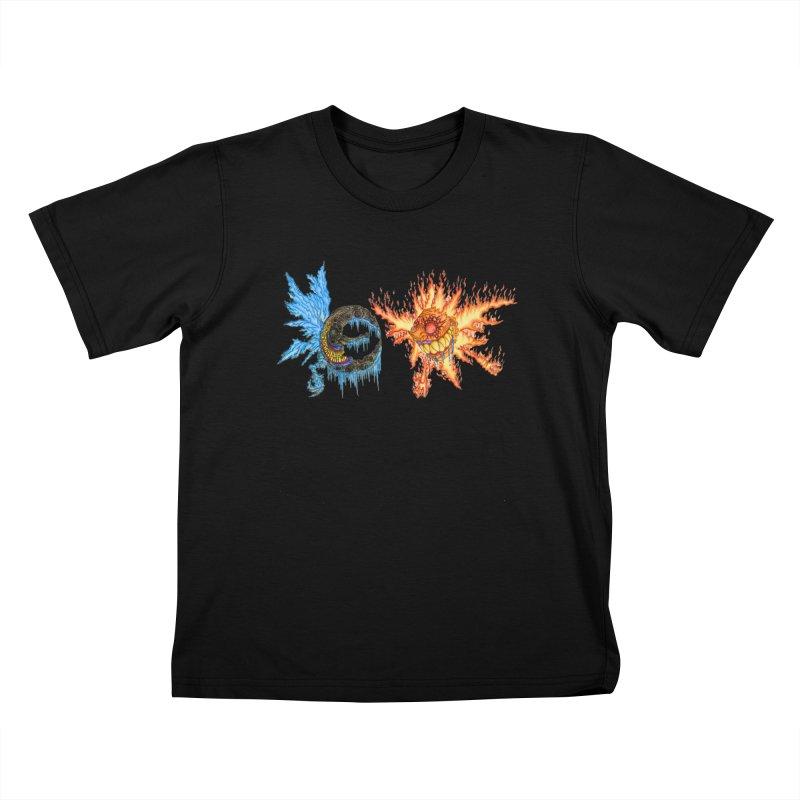 Luna and Sol Kids T-Shirt by Natou's Artist Shop