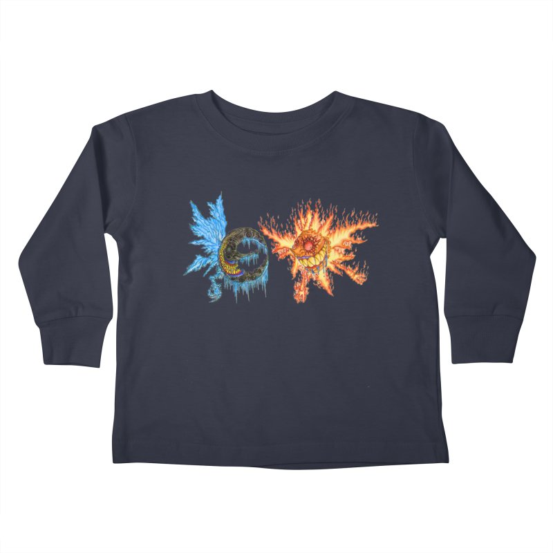 Luna and Sol Kids Toddler Longsleeve T-Shirt by Natou's Artist Shop