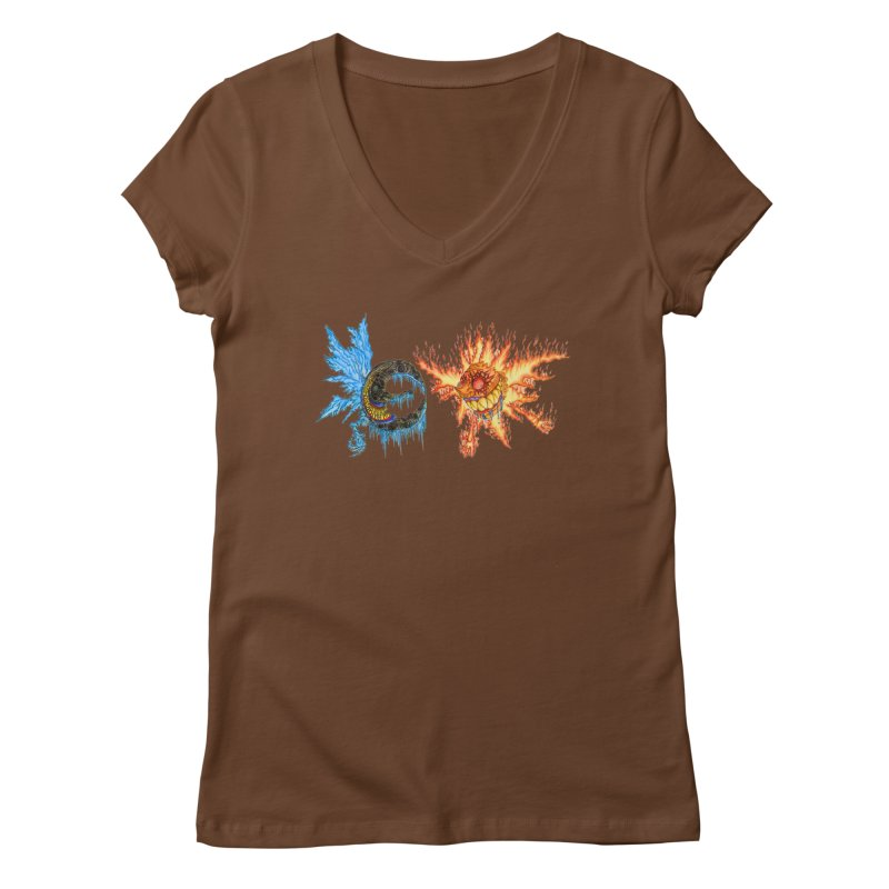 Luna and Sol Women's Regular V-Neck by Natou's Artist Shop