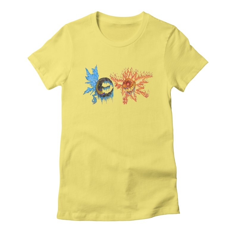 Luna and Sol Women's Fitted T-Shirt by Natou's Artist Shop