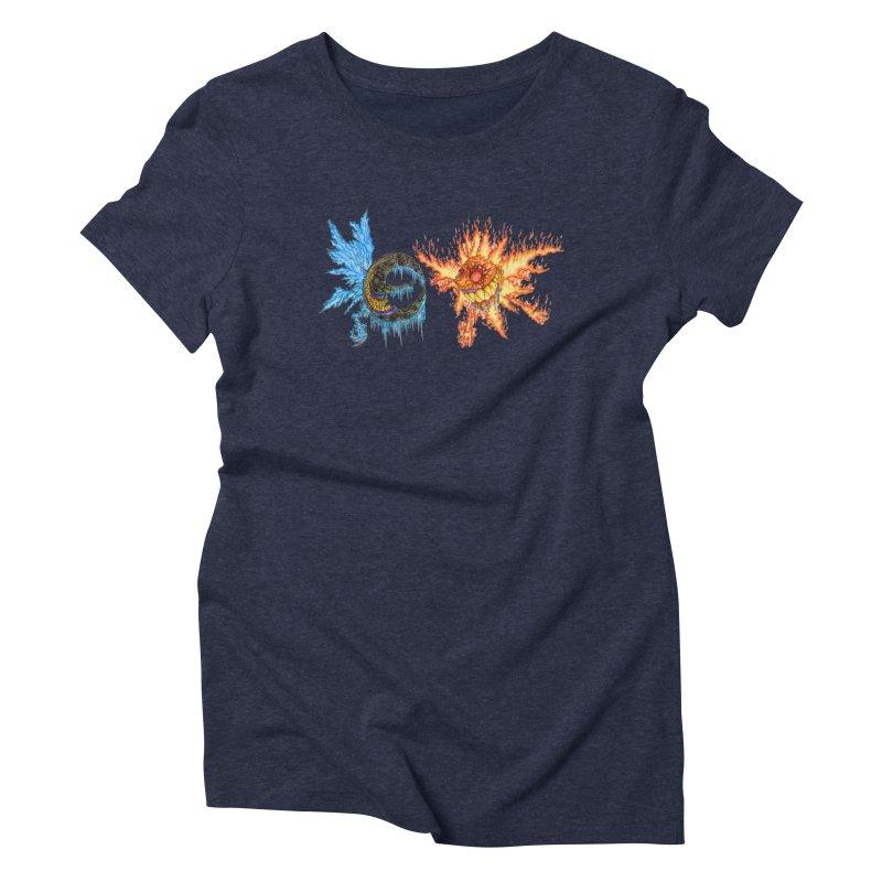 Luna and Sol Women's Triblend T-Shirt by Natou's Artist Shop