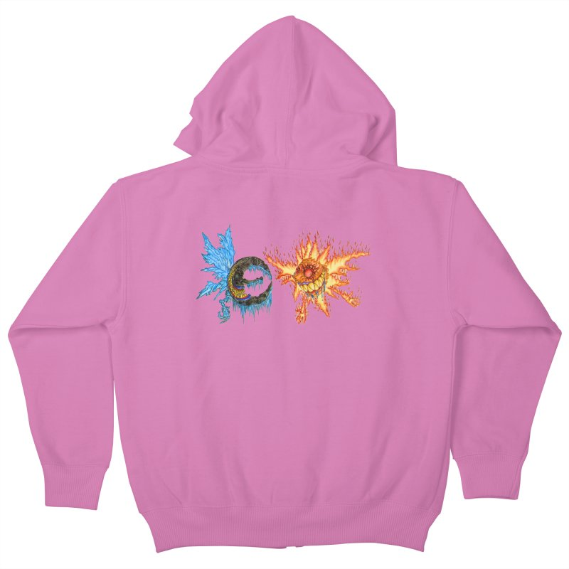 Luna and Sol Kids Zip-Up Hoody by Natou's Artist Shop