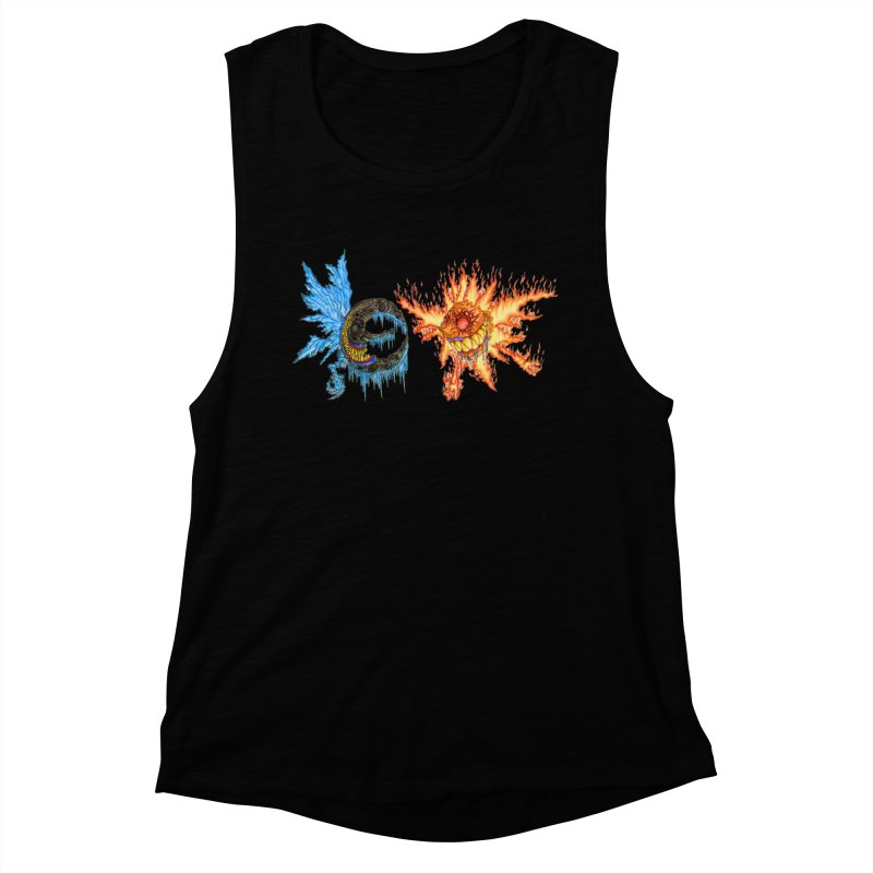 Luna and Sol Women's Muscle Tank by Natou's Artist Shop