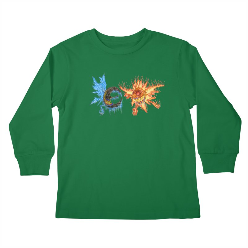 Luna and Sol Kids Longsleeve T-Shirt by Natou's Artist Shop