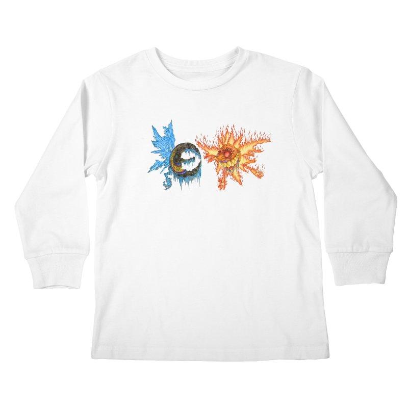 Luna and Sol Kids Longsleeve T-Shirt by Natou's Artist Shop