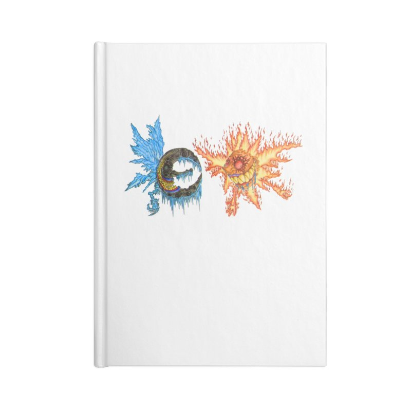 Luna and Sol Accessories Lined Journal Notebook by Natou's Artist Shop