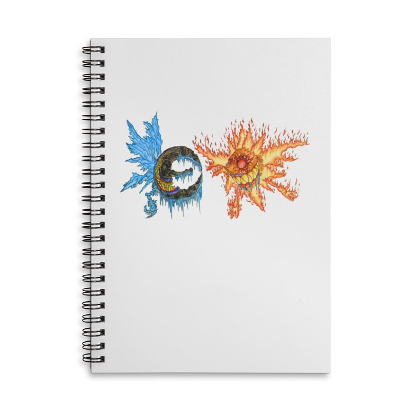 Luna and Sol Accessories Lined Spiral Notebook by Natou's Artist Shop
