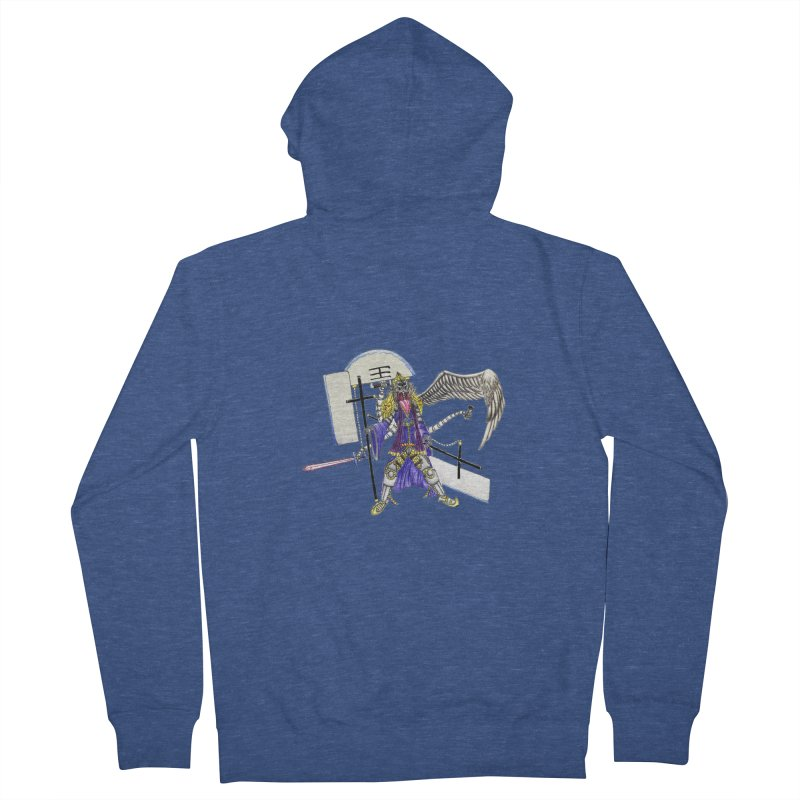 Trip knight 01 Men's French Terry Zip-Up Hoody by Natou's Artist Shop