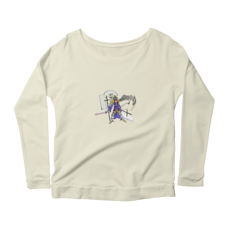 Trip knight 01 Women's Scoop Neck Longsleeve T-Shirt by Natou's Artist Shop