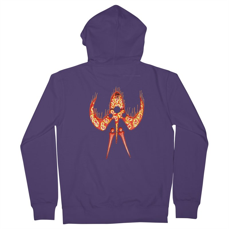 Trip Orange Women's French Terry Zip-Up Hoody by Natou's Artist Shop