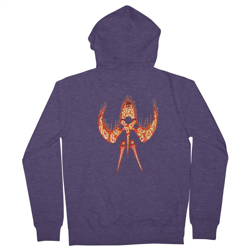 Trip Orange Men's French Terry Zip-Up Hoody by Natou's Artist Shop